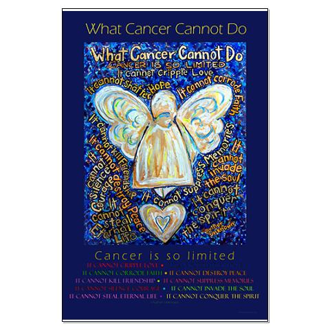 What cancer cannot do poem angel art poster