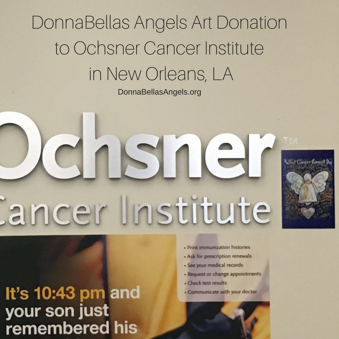 Blue apron donation request - Blue And Gold Cancer Angel At Ochsner Cancer Institute