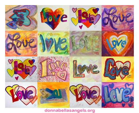 Love Mosaic Collage Paintings Collection Of The Love Word Art