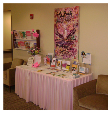 Feel Beauty Pink Cancer Angel in Breast Cancer Clinic