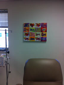 Love XOXO Painting at Vita Hematology Oncology Clinic
