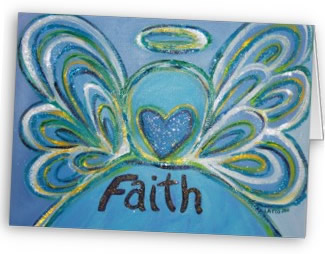 Faith Angel Greeting Cards & Note Cards