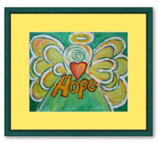 Hope Angel Framed Painting Art Print