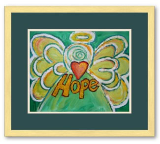 Hope Angel Posrt Art Print Framed Gold