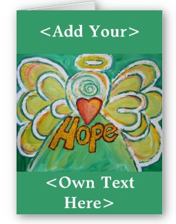 Hope Angel Custom Greeting Card