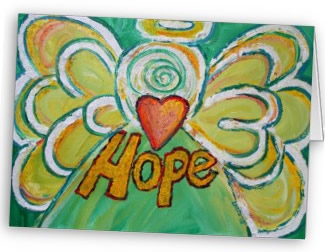 Hope Angel Greeting Card