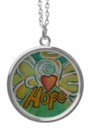 Hope Angel Silver Necklace