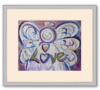 Love Angel Art Print Framed