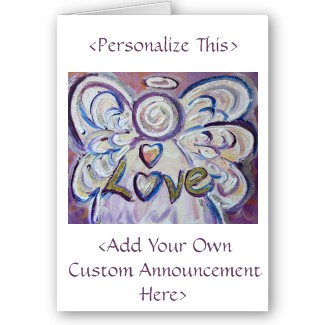 Love Angel Personalize Custom Announcement Greeting Card