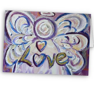 Love Angel Art Greeting Card