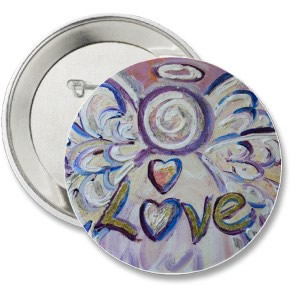 Love Angel Word Art Pin Pendant Buttons