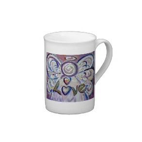 Love Angel Word Bone China Mug specialtymug