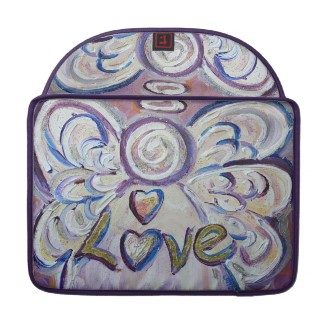 Love Angel Word Computer Laptop Sleeve rickshawflapsleeve