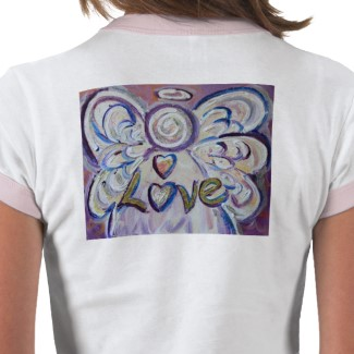 Love Angel T-shirt Art on Back Side
