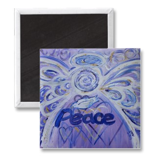 Peace Angel Magnet Square