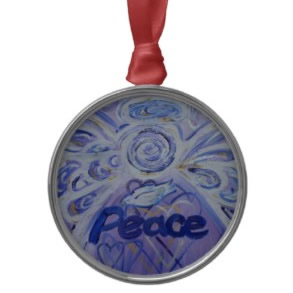 Peace Angel Art Ornament Round