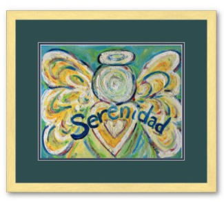 Serenidad Angel Art Print Poster Framed