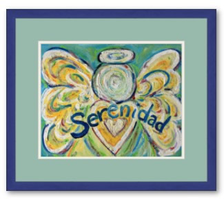 Serenidad Angel Framed Art Print