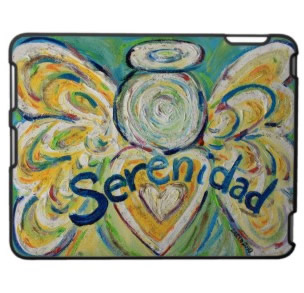 Serenidad Angel iPad Case