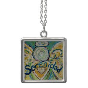 Serenidad Angel Silver Necklace Square