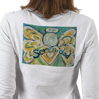 Serenidad Angel T-shirt (Painting on Back)