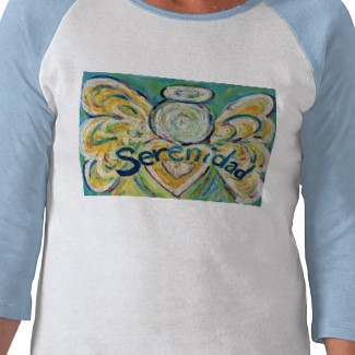 Serenidad Angel T-shirt (Art on Both Sides)