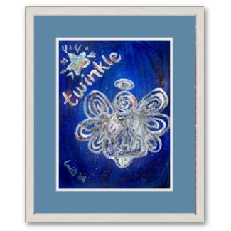 Twinkle Angel Framed Poster Art Print