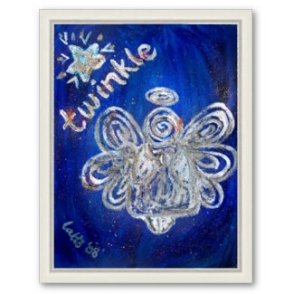 Twinkle Angel Framed Art Poster Print