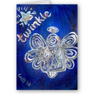 Twinkle Angel Greeting Card or Note Cards