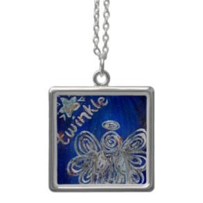 Twinkle Silver Angel Necklace Jewelry