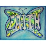 Inspirational Butterfly Word Faith