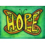 Inspirational Butterfly Word Hope