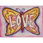 Inspirational Butterfly Word Love