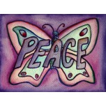 Inspirational Butterfly Word Peace