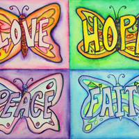 Inspirational Butterfly Words Art