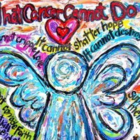 Colorful Cancer Angel Painting