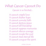 What Cancer Cannot Do - Pink Light Text