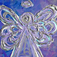 Purple Angel Painting