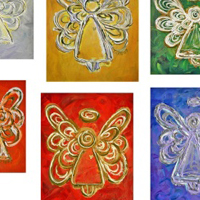 Angel Color Series Paintings