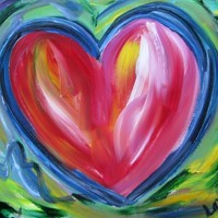 Heart with Hope Art Painting