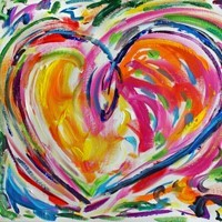 Heart Art Painting