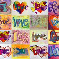 Love Word Art Collage
