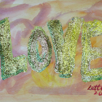 Love Word Summer Glow Painting
