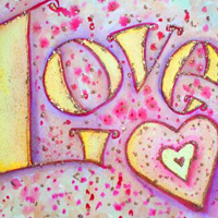 Inspirational Word Sweet Pink Love Painting