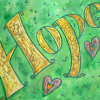Hope Inspirational Word Painting