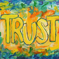 Trust Inspirational Word Art Painting