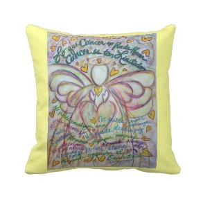Spanish Cancer Angel Decorative Throw Pillow throwpillow