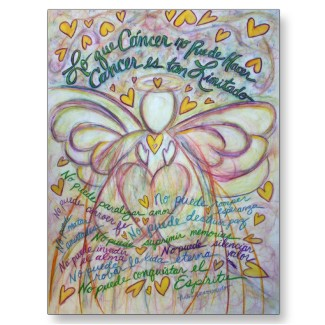 Spanish What Cancer Cannot Do Angel Postcards postcard