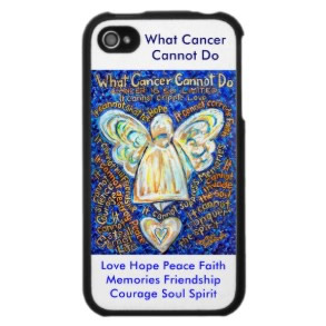 Blue and Gold What Cancer Cannot Do Iphone 4 Case