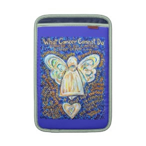 Blue and Gold Cancer Cannot Do Angel iPad Sleeve rickshawsleeve